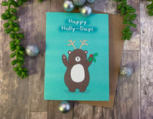 Load image into Gallery viewer, Happy Holly-Days Christmas Card