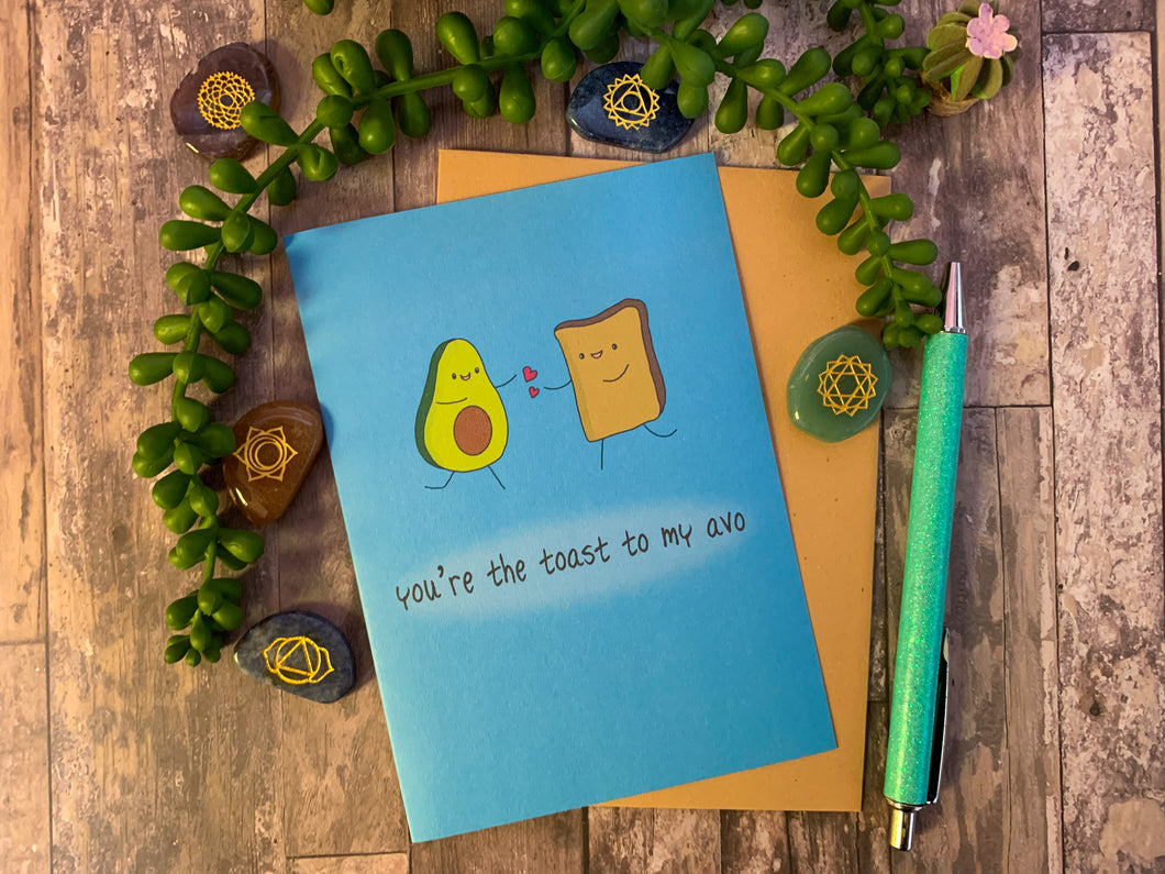 Toast & Avo Greeting Card