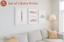 Load image into Gallery viewer, Boho Love Set of 3 A4 Art Prints