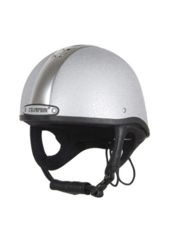 CASQUE EQUITATION CHAMPION GRIS SILVER