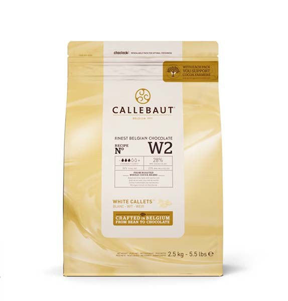 Callebaut Chocolate White Easi-Melt Callets 2.5 kg