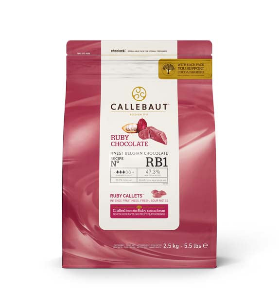 Callebaut Ruby RB1 Chocolate Callets 2.5kg