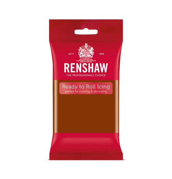 Renshaw Dark Brown Ready to Roll Icing 250g