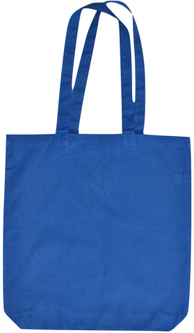 Blue Cotton Tote Bag