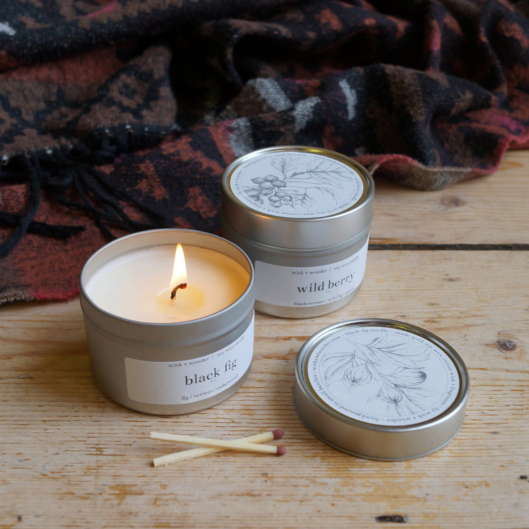 fig + berry candle duo