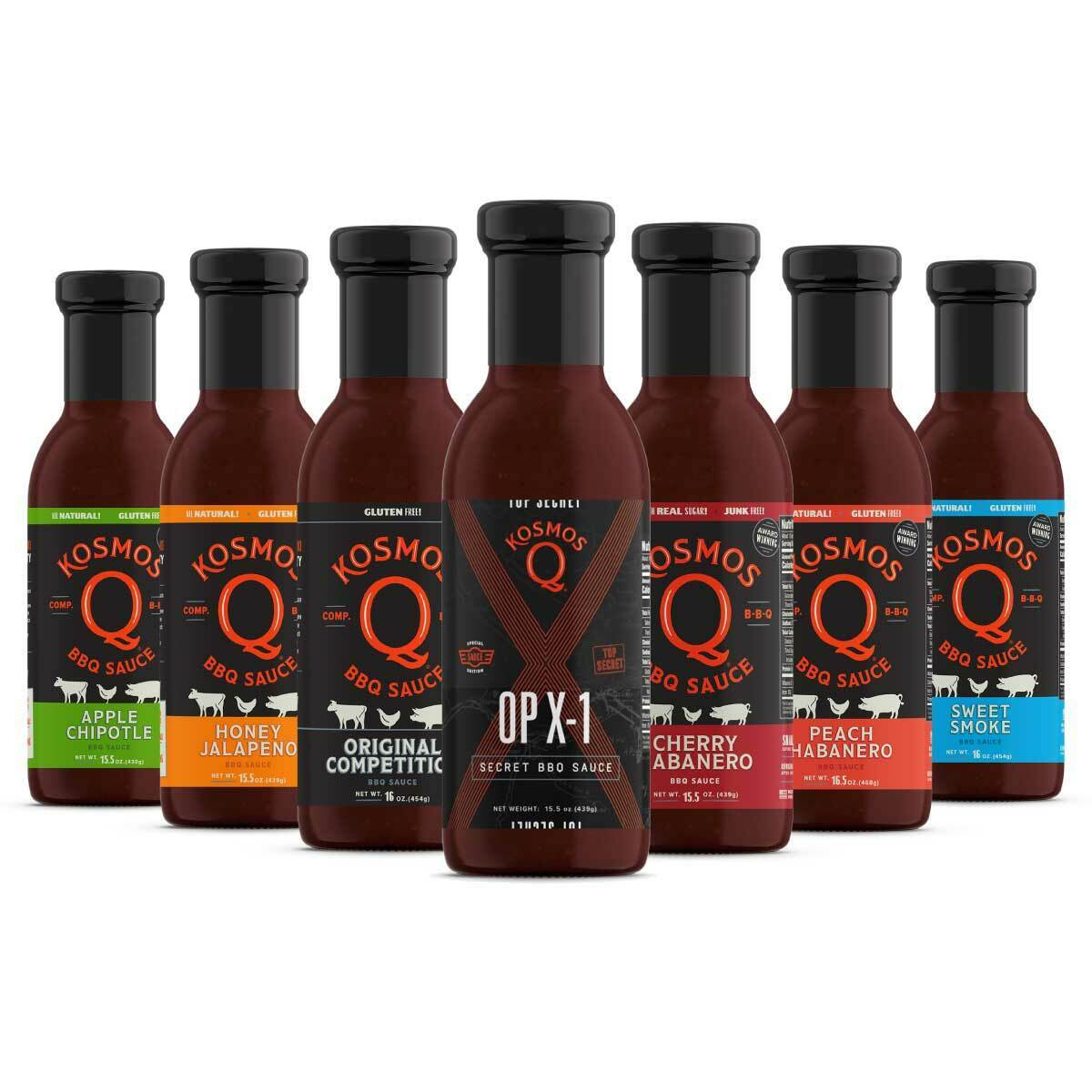 Kosmo's Q BBQ Gift Baskets BBQ Sauce Bundle (7 Pack)