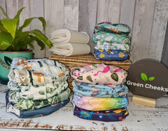 Green Cheeks Cloth Nappies Absorbent Hemp Easy to Use