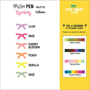 Brush Pens Pack Of 6 | Spring Colours