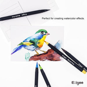 Ezigoo | Brush Pens Pack Of 10 Colours