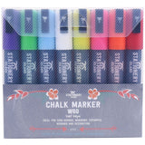 Chalk Pens Pack Of 8 Colours | Wet Wipe | 6mm Chisel Nib