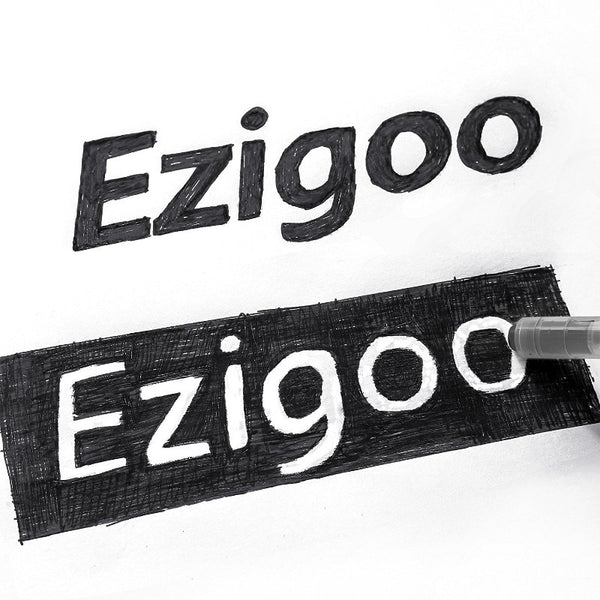 Ezigoo Erasable Friction Pens Pack of 12 Black