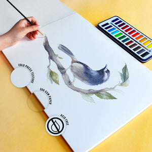 Watercolour Paper | Student Grade | A3 | 300gsm Paper | 20 Pages