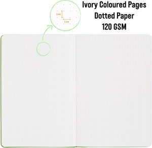 Bullet Journal | A5 Dotted Notebook | Hardcover | 120gsm Paper | 180 Pages | Apple