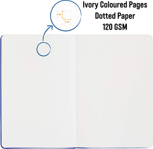 Bullet Journal | A5 Dotted Notebook | Hardcover | 120gsm Paper | 180 Pages | Blueberry
