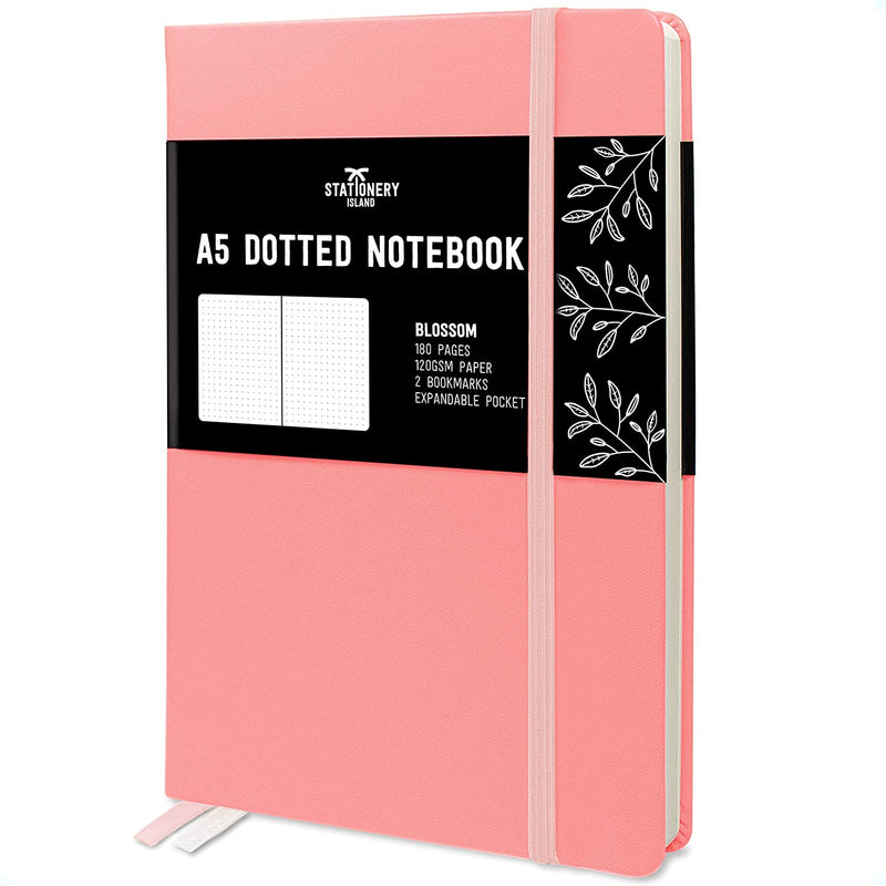 Bullet Journal | A5 Dotted Notebook | Hardcover | 120gsm Paper | 180 Pages | Blossom