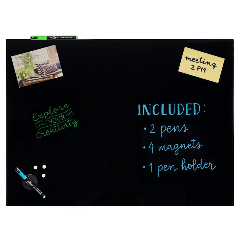 Magnetic Glass Board | 60 x 45cm | Black