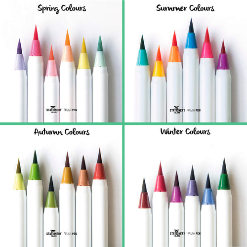 Brush Pens Set 24 + 1 Aqua Brush | 4 Seasons Colours