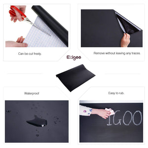 Ezigoo | Chalkboard Sticker Pack Of 1 | 60cm x 310cm | 5pcs Of Chalk