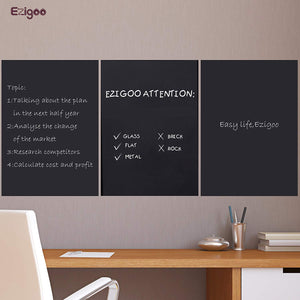 Ezigoo | Chalkboard Sticker Pack Of 1 | 60cm x 310cm | 1 Chalk Pen