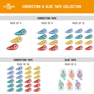 Correction Tape Pack Of 8 | 5m x 5mm