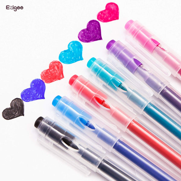 Ezigoo | Erasable Pens Pack Of 6 | Assorted | Friction