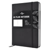 Plain Journal | A5 Blank Notebook | Hardcover | 120gsm Paper | 180 Pages | Black