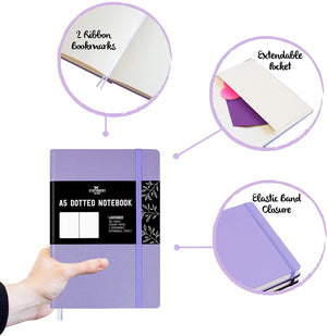 Bullet Journal | A5 Dotted Notebook | Hardcover | 120gsm Paper | 180 Pages | Lavender