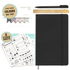 Bullet Journal | A5 Dotted Notebook With Accessories | Hardcover | 120gsm Paper | 180 Pages | Black