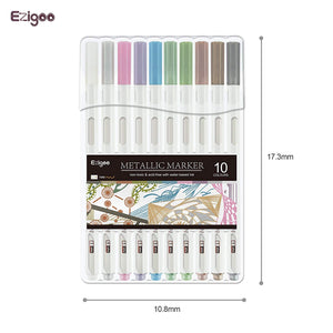 Ezigoo | Metallic Markers Pack Of 10 Colours