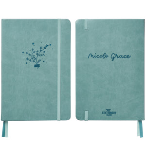 Bullet Journal | Nicole Grace | A5 Dotted Notebook | Hardcover | 120gsm Paper | 180 Pages | Blue