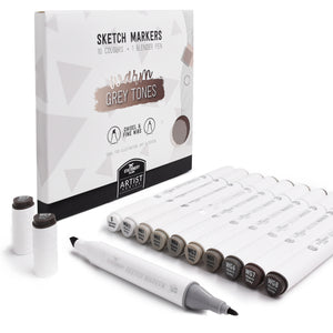Sketch Markers Pack Of 11 | Warm Grey Colours