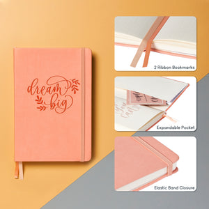 Bullet Journal | Shelly Kim | A5 Dotted Notebook | Hardcover | 120gsm Paper | 180 Pages | Coral
