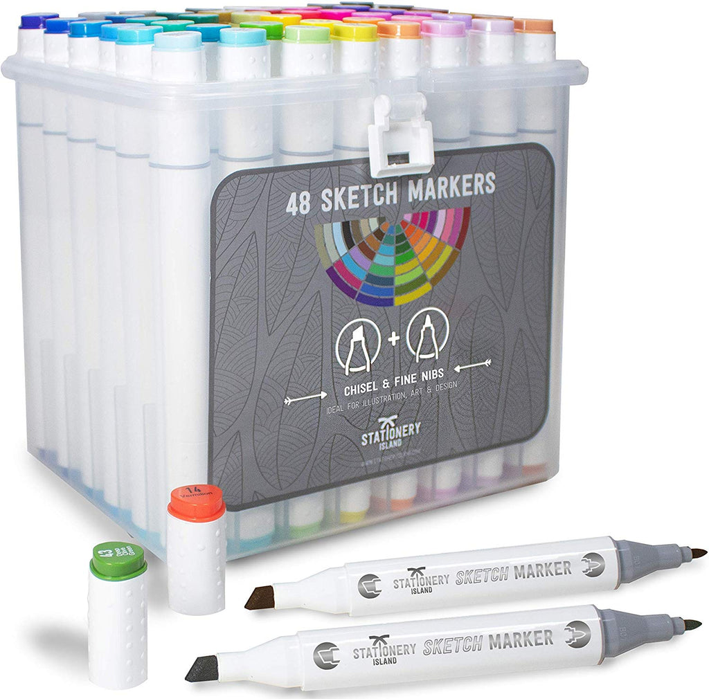 Sketch Markers Pack Of 48 | Essential Colours