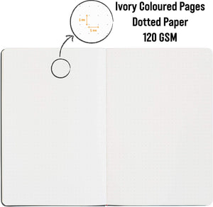 Bullet Journal | A5 Dotted Notebook | Hardcover | 120gsm Paper | 180 Pages | Slate