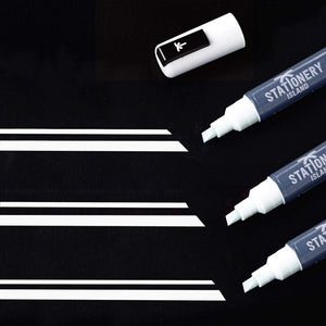 Chalk Pen Pack Of 1 White | Wet Wipe | 6mm Chisel Nib