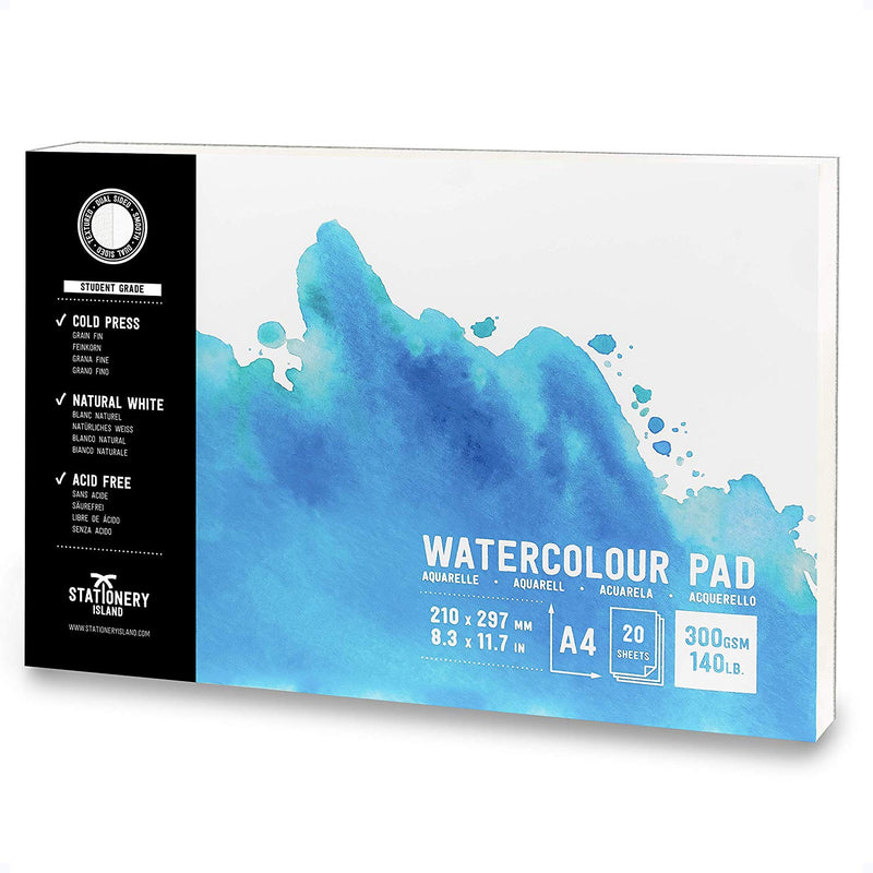 Watercolour Paper | Student Grade | A4 | 300gsm Paper | 20 Pages