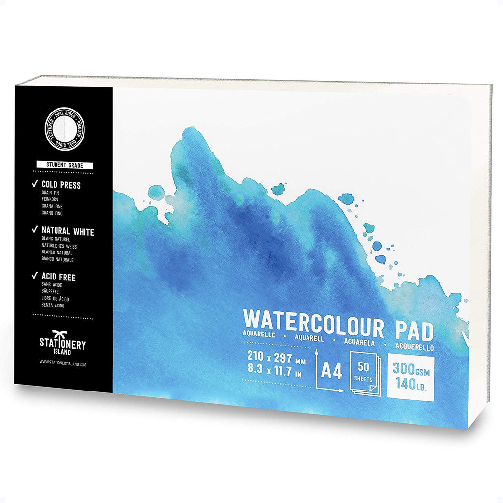 Watercolour Paper | Student Grade | A4 | 300gsm Paper | 50 Pages