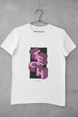 Camiseta Tech Mood - Rosado
