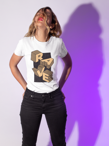 Image of Camiseta Rave Design - Marrón
