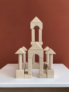 Castle Building Blocks - Natural Wood