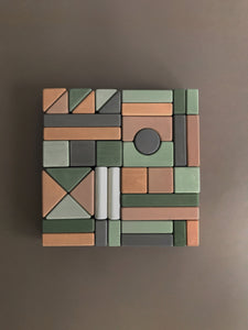 Castle Building Blocks - Olive