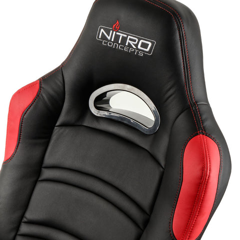Nitro Concepts C80 Comfort Series Gaming Chair - Black/Red - Inertia Computers - 10