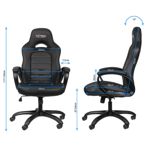Nitro Concepts C80 Pure Series Gaming Chair - Black - Inertia Computers - 2