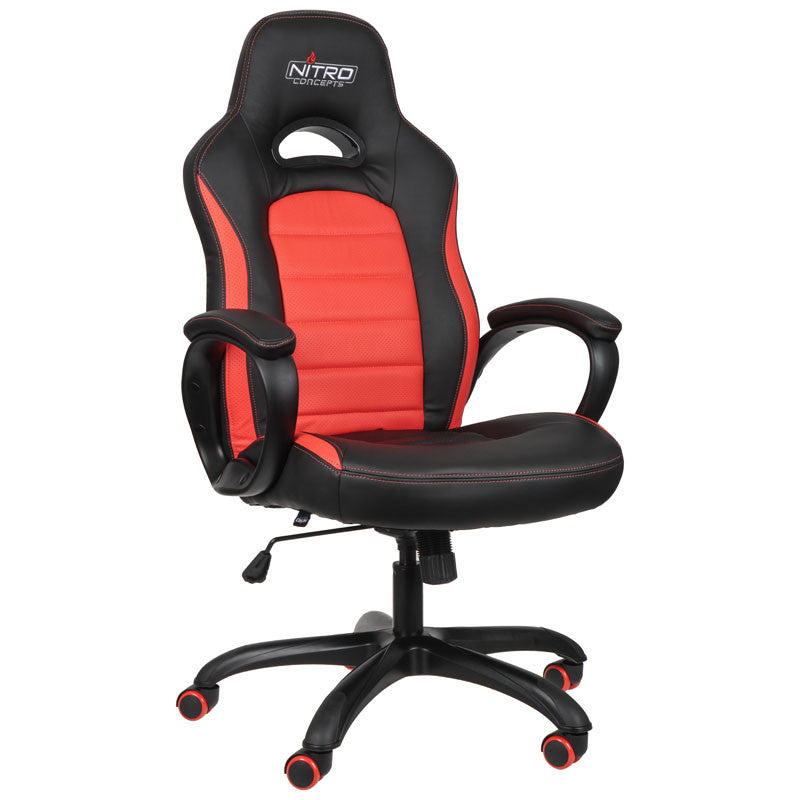 Nitro Concepts C80 Pure Series Gaming Chair - Black/Red - Inertia Computers - 1