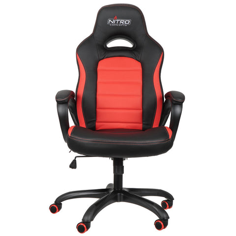 Nitro Concepts C80 Pure Series Gaming Chair - Black/Red - Inertia Computers - 3