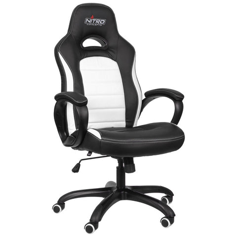 Nitro Concepts C80 Pure Series Gaming Chair - Black/White