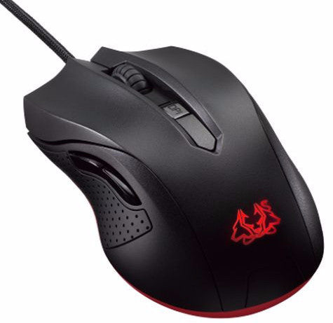 Asus CERBERUS Gaming Mouse, 2500 dpi, 4-Step dpi Control, 4-Colour LED, 155g, Retail