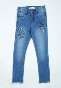 Girl's Denim Pant - ESSENTIA.COM.PK