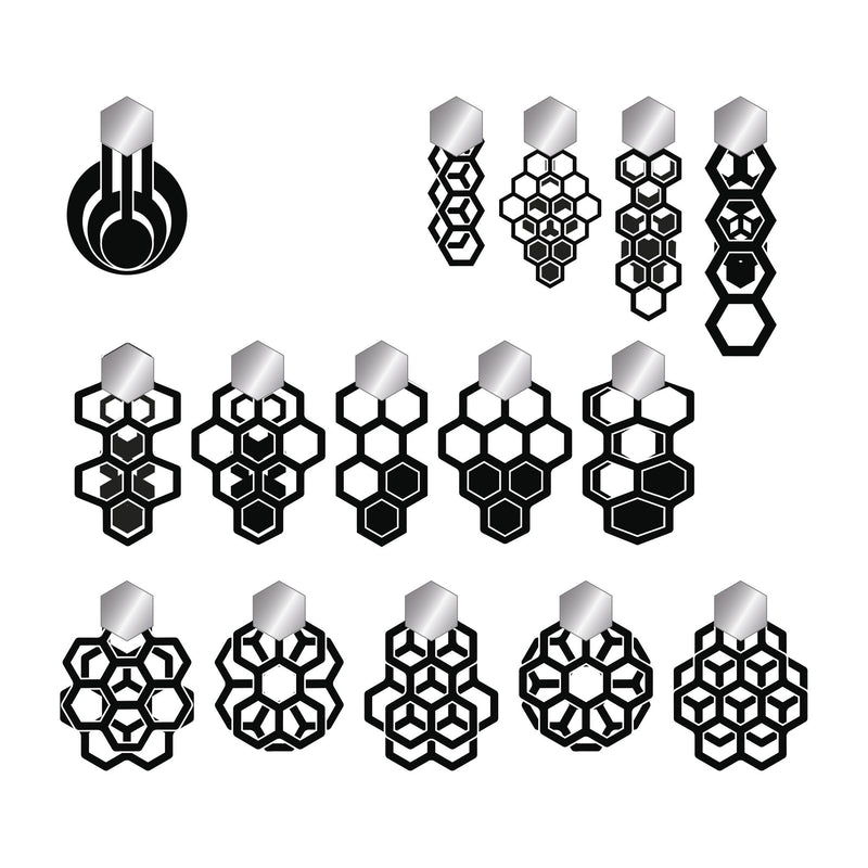 minrl 541 earrings silver options