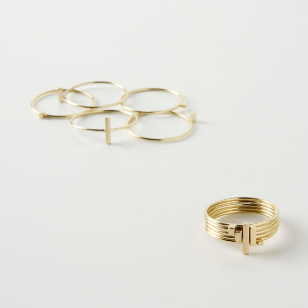 minrl fibonacci rings gold set random